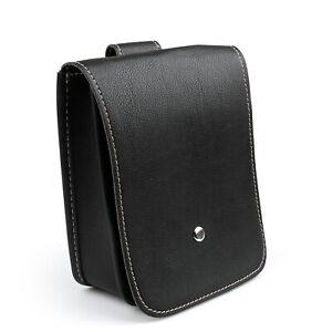 Black-minimalist-Motorrad-Taschen-Leder-Seite-Werkzeug-Tasche-Gepaeck-Fuer-Dyna