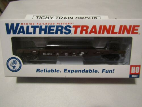 Walthers TrainLine HO Train Conrail Flat Car Built RTR 931-1602