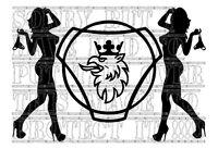 15x22CM SEXY SCANIA GRIFFIN LOGO decal sticker vinyl TRUCK COACH GRAPHICS EURO