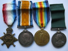 WWI RNR trio with Long Service and Good Conduct medal