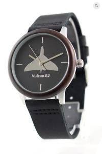 Vulcan-motif-watch-S-Steel-case-wood-bezel-M-F-Friend-or-Foe-Miyota-Quartz