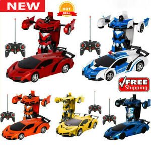 2-in1-Car-Remote-Control-Vehicle-Transformer-Transforming-Robot-RC-Cars-Kids-Toy