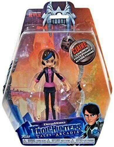 inch Scale Action Figure-Jim Toby Claire DreamWorks trollhunters 3.75