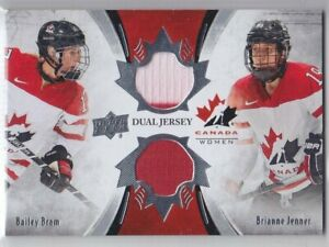 2016-17-UD-CANADA-JUNIORS-BRAM-JENNER-JERSEY-DUAL-TCD-BJ-Game-Used-Canada-Women