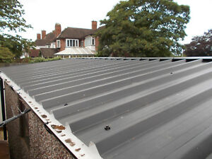 Box Profile Pvc Roofing Sheet Metal Sheeting Black 0 5mm Anti Con Near Me Ebay