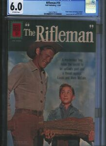 CGC-6-0-RIFLEMAN-10-OFF-WHITE-PAGES-ODD-CLASSIC-CHUCK-CONNORS-WOOD-COVER