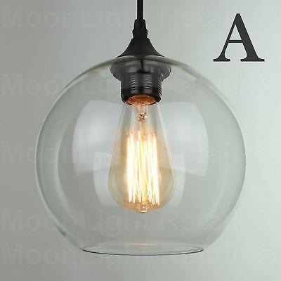 MODERN FASHION INDUSTRIAL GLASS SHADE LOFT CAFE PENDANT LIGHT CEILING LAMP NEW