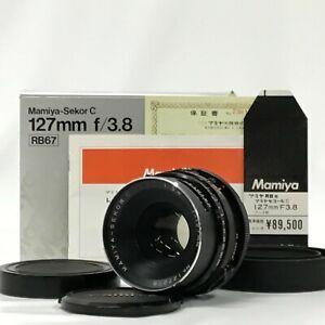 Mamiya-Sekor-C-127mm-F3-8-per-RB67-Pro-S-CON-SCATOLA-CAPPUCCIO-SD-CAP-manuali-JC