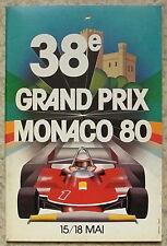 MONACO GRAND PRIX FORMULA ONE 1980 F1 OFFICIAL Race Programme