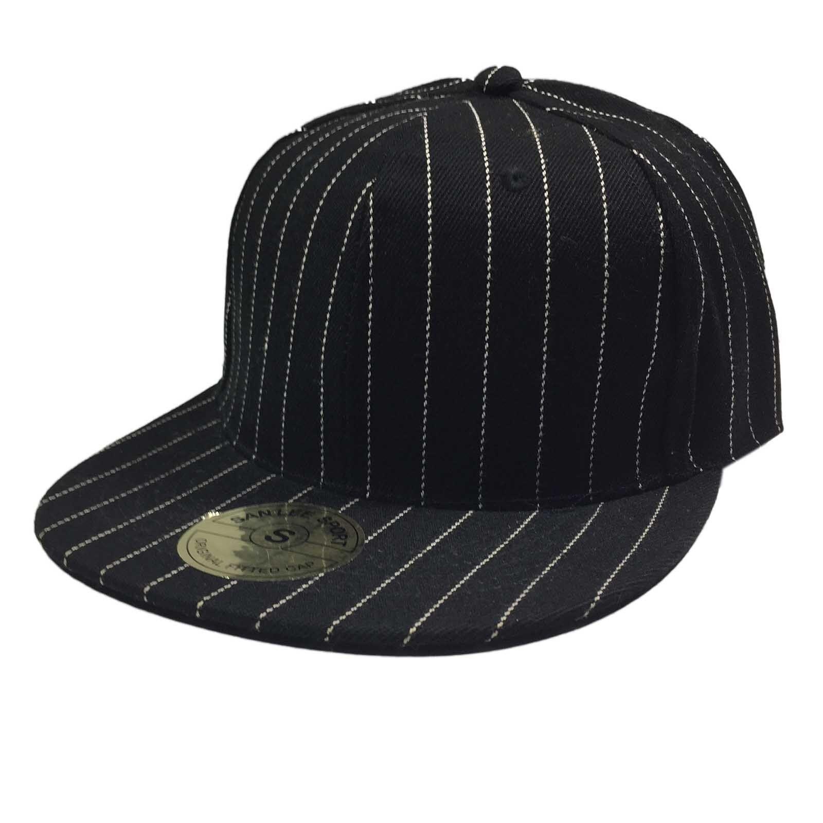 Hip Hop Hiphop Urban Kleidung Kappe Hut Baseball Gangster Pin Streifen Mütze Eng