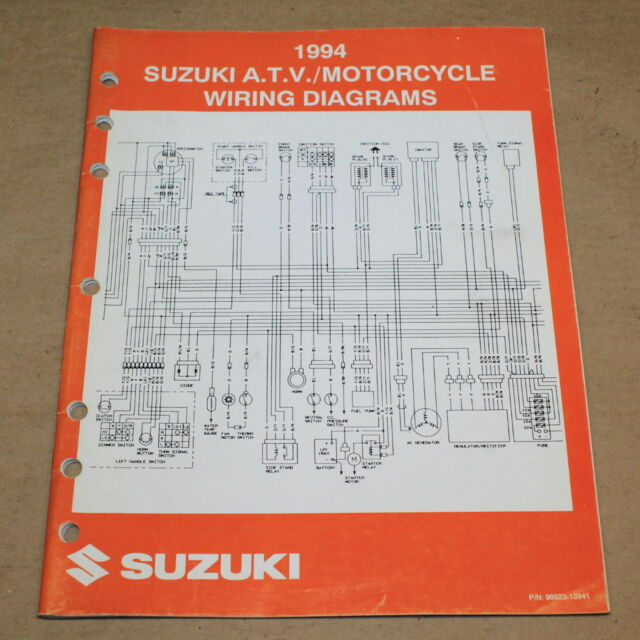 Suzuki 1994 Atv  Motorcycle Factory Wiring Electrical