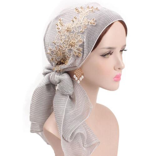 Womens Muslim Hijab Cancer Chemo Hat Turban Cap Cover Hair Head Scarf Wrap Lot