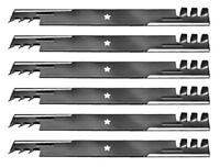 Set Of 6 Sears Yt Yts 3000 46 Gator Style Mulching Mower Blades Free Shipping