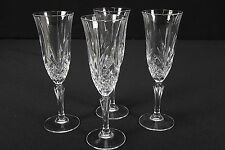 Cris D' Arques JG Durand Masquerade Pattern Crystal Champagne Flutes Set Of 4