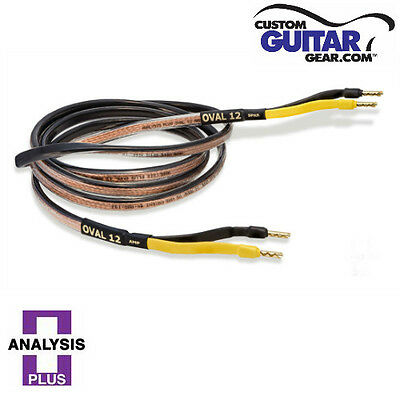 analysis plus black oval 12 speaker cables 10ft length pair ebay. Black Bedroom Furniture Sets. Home Design Ideas