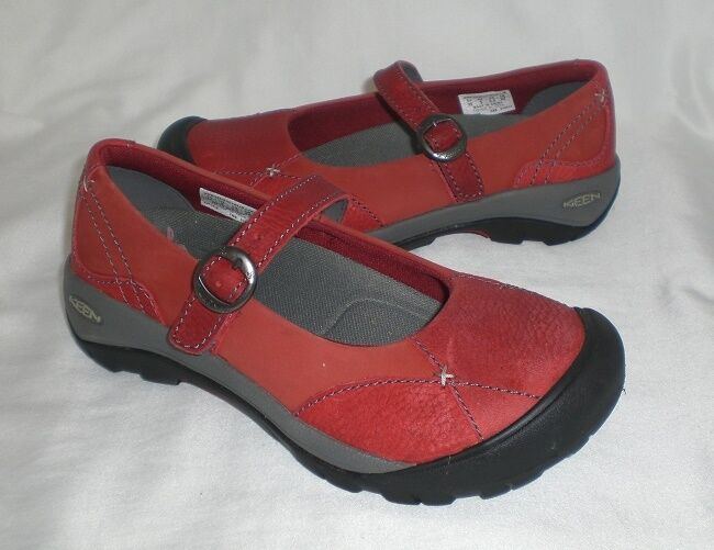 Keen Presidio MJ Sport athletic shoes red suede distressed leather sz 5 Med NEW