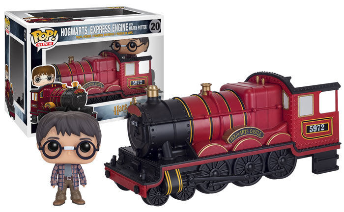 HARRY HARRY HARRY POTTER - HOGWARTS EXPRESS TRAIN ENGINE + HARRY POTTER POP RIDES FUNKO 421ddf