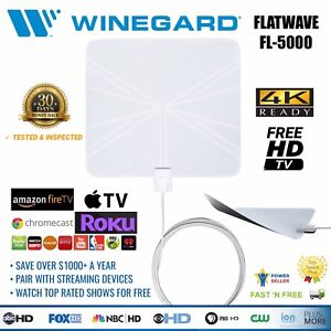 Details about Free Cable TV Antenna HDTV 4K Network Channel Receiver  WINEGARD FlatWave FL-5000