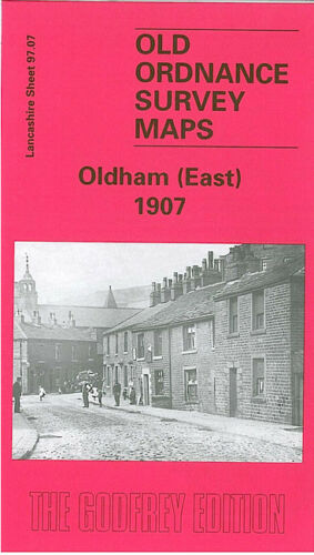 OLD ORDNANCE SURVEY MAP OLDHAM EAST 1907 BANK TOP CROSS BANK SHELDERSLOW HEY