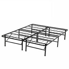 New Modern Bi-Fold Folding Platform Metal Bed Frame Mattress Foundation BF