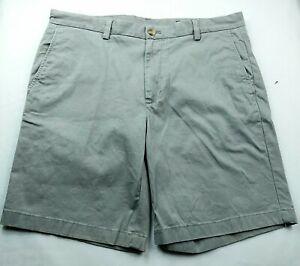 Vineyard-Vines-Mens-Breaker-Shorts-Size-36-Solid-Gray-Flat-Front-Pockets