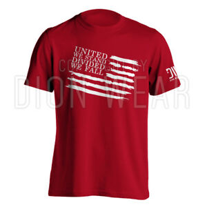 United-We-Stand-Divided-We-Fall-Military-Men-039-s-T-shirt-S-3XL