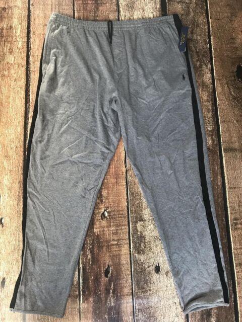 fff1858e76af Polo Ralph Lauren Big Tall Knit Track Pants Grey Black Mens 4xlt for ...