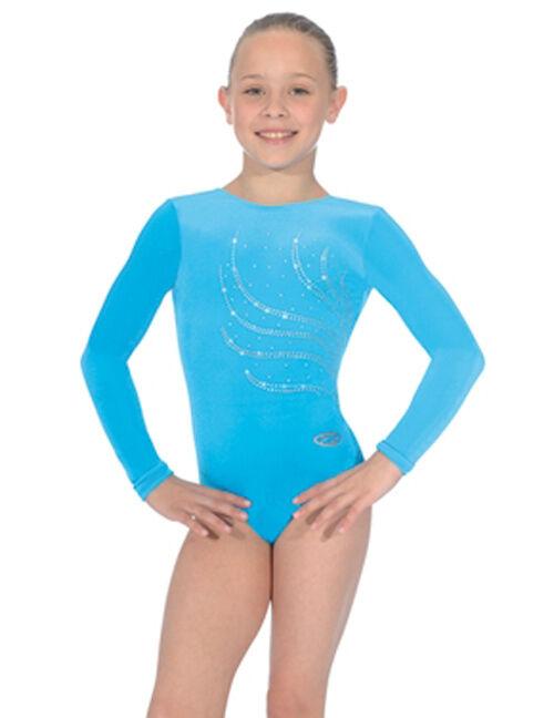 The Zone Girls Tiara Gymnastic Leotard Smooth Velour by Roch Valley