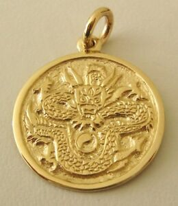 Large genuine solid 9k 9ct yellow gold dragon pendant ebay image is loading large genuine solid 9k 9ct yellow gold dragon aloadofball Choice Image
