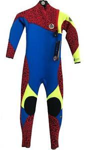 Rip-Curl-JUNIOR-FLASHBOMB-3-2GB-ZIP-FREE-Boys-Kids-Steamer-Wetsuit-WSM5OB-Blue