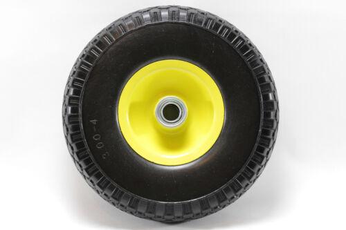 Ersatzrad Reifen GELB 250mx70m pannensicher Vollgummi NEU Sackkarrenrad