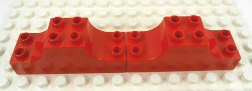 2 red Lego Duplo Item Bridge Support 2x6x2