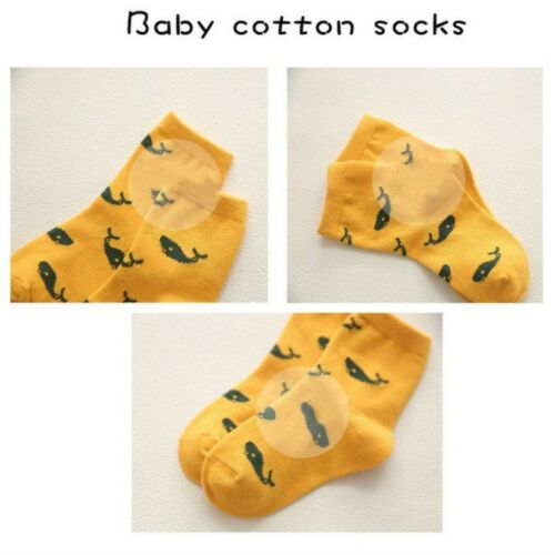 Soft Cotton Boys Girls Socks Cute Cartoon Pattern Kids Socks for Baby 5 Pairs N7