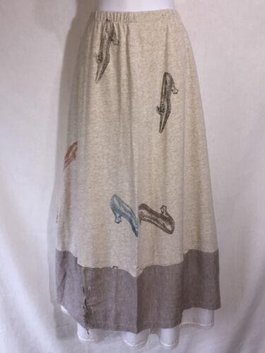 Staley Gretzinger Long Art to Wear Laced Hem Flare