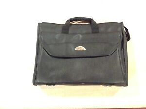 Samsonite-Black-Leather-Laptop-Bag-16Wx12Hx3W-Great-Condition-fits-14-in-laptop