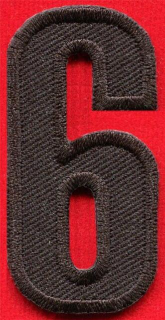 Number Three No 3 School Alphabet Red Color Applique Iron on Patch Sew