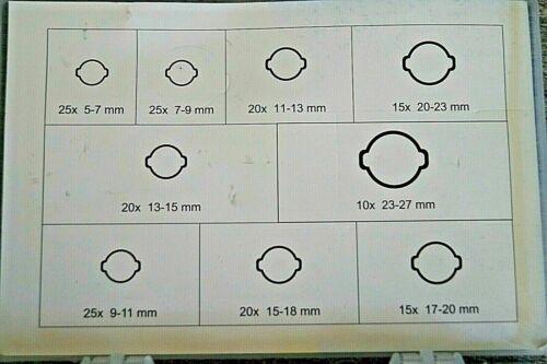 2 Ohr Schlauchklemmen Schlauchschellen Schlauchverbinder Set 5 bis 27mm 175 tlg