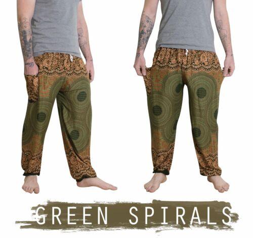 Baggy Harem Trousers Mens Thai Yoga Pants Elephant Unisex Drawstring Hippy