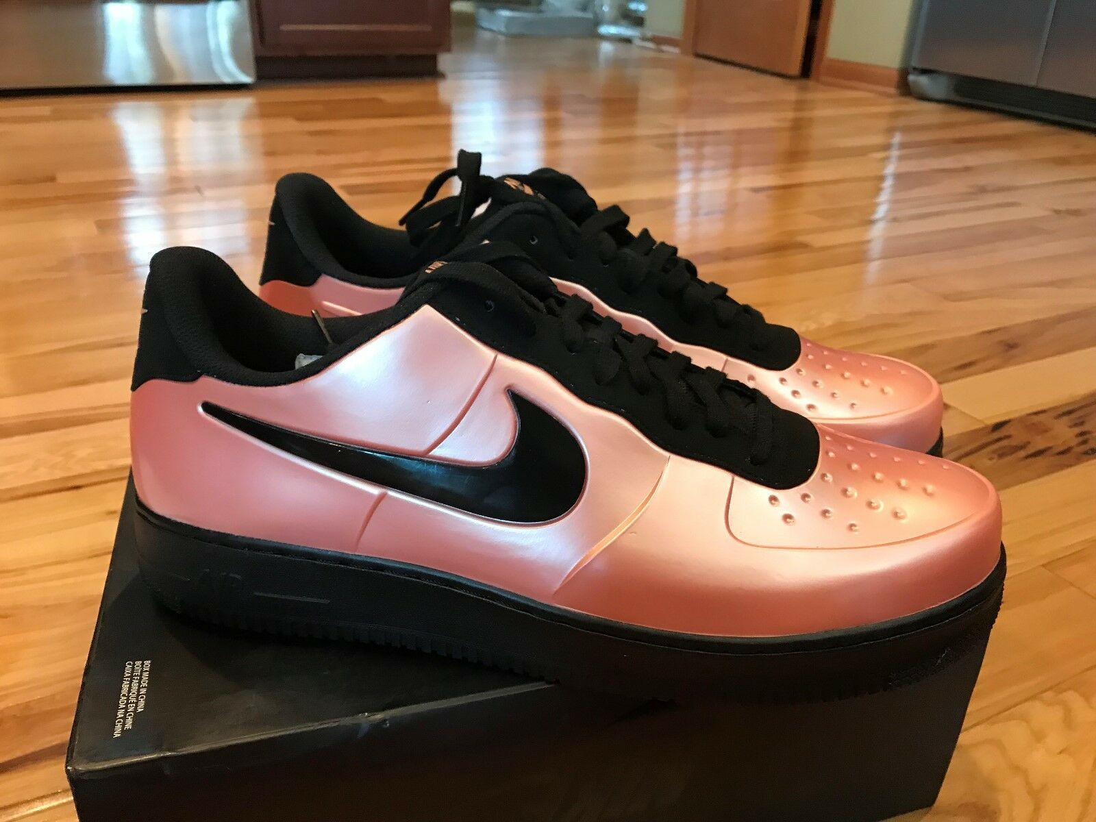 Nike AF1 Foamposite Pro Cup Air Force 1 Coral Stardust Black AJ3664-600 Size 14