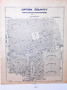 Old Upton County Texas Land Office Owner Map Rankin