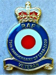 BEAUTIFUL BRAND NEW  MILITARY ENAMEL BADGE RAF VETERAN REMEMBRANCE DAY