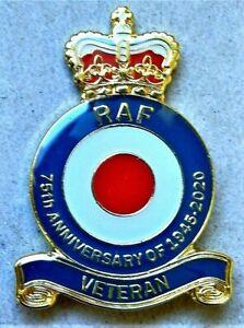 BEAUTIFUL-BRAND-NEW-MILITARY-ENAMEL-BADGE-RAF-VETERAN-REMEMBRANCE-DAY