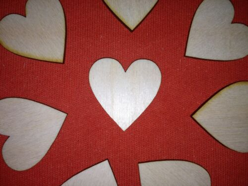 20 pcs small 3.5cm LOVE HEARTS PLAIN UNPAINTED WOODEN HANGING GIFT LABEL TAG