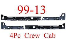 99 13 Crew Cab Inner Rocker Panel 4Pc L&R, Chevy GMC Truck, Left & Right Sides