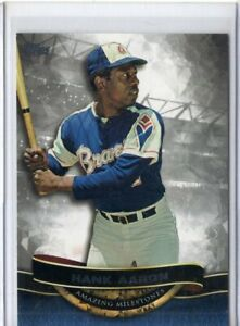 2016 Topps Stadium Club Baseball #75 Hank Aaron Atlanta Braves