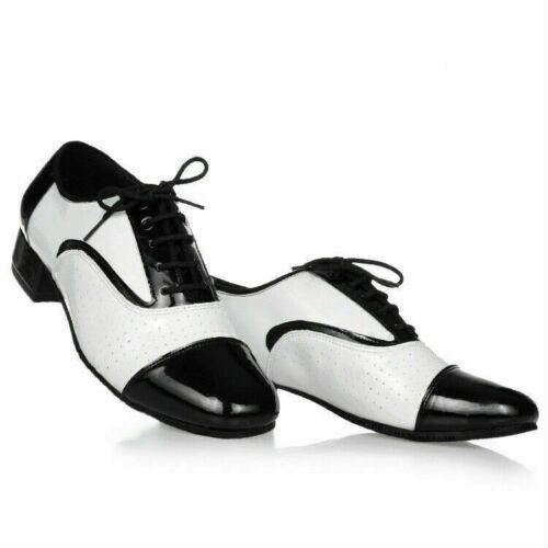 Herren Ballsaal Tanzschuhe Leder Latein Walzer Tango Niedrig Absatz Atmungsaktiv