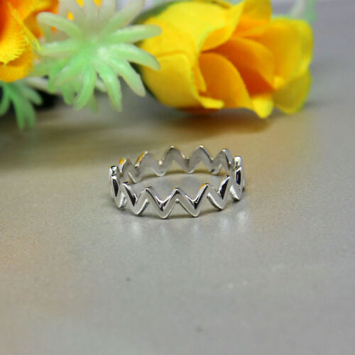 Mothers day gift SB-006 925 Sterling Silver Women Zigzag Designer Band