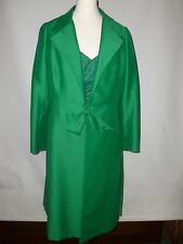 VINTAGE NABRE LONDON  JACQUELINE KENNEDY STYLE PURE SILK COAT  FITS UK SIZE 12