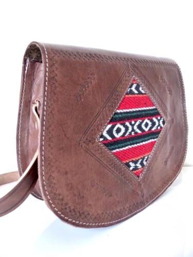 Cuir A Leather Main Bag Sac Handbag Besace Laine Neuve Neuf Kilim Bandouliere qAgxntx