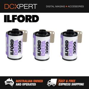 ILFORD-DELTA-3200-3-PACK-36-EXPOSURES-35mm-BLACK-amp-WHITE-NEGATIVE-FILM